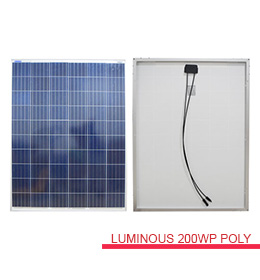 harga solarcell surya luminous 200wp poly