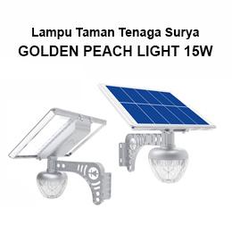 jual lampu taman tenaga surya golden peach