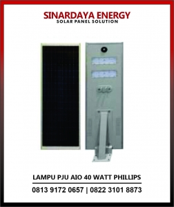 harga lampu solarcell all in one phillips 40w